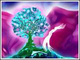La femme céleste habitait le monde cosmique  Là où fleurit l'Arbre de Lumière